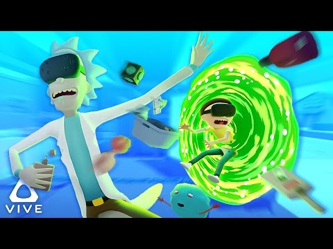 RICK AND MORTY IN VIRTUAL REALITY!   Rick and Morty VR Simulator (HTC Vive Virtual Rick-ality)