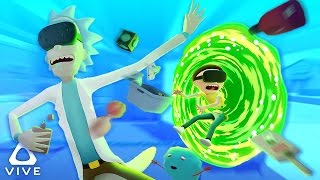 RICK AND MORTY IN VIRTUAL REALITY! ❱ Rick and Morty VR Simulator (HTC Vive Virtual Rick-ality)