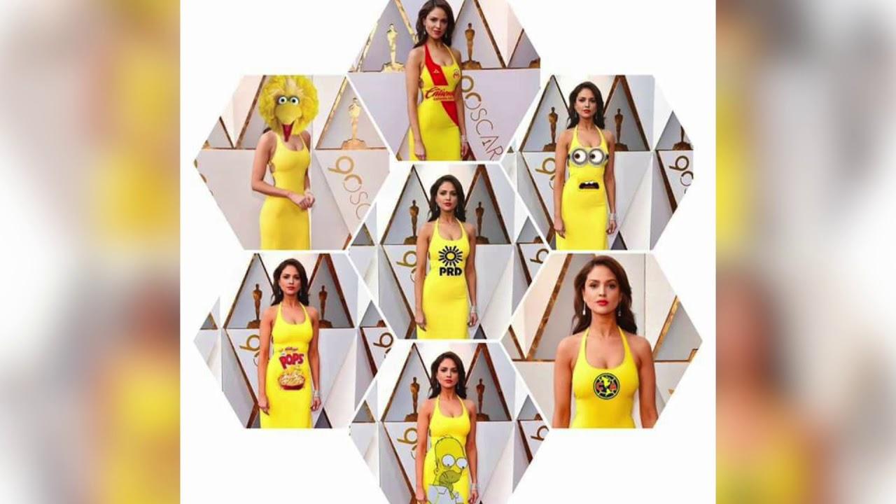 Eiza González Y Su Vestido Amarillo En Los Oscar 2018