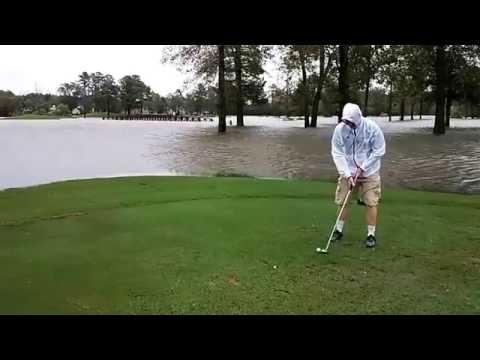 Playing Golf hurricane Matthew in Virginia Beach, VA