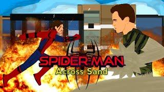 Spider-Man Across Sand ( полнометражный мультфильм ) рисуем мультфильмы 2
