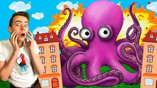 ОСЬМИНОГ ОБЖОРА Съел Всех в Игре Tasty Planet Играем на GAMES FACTORY