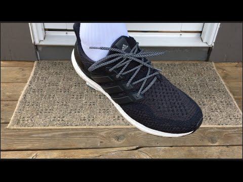 detailed look 844d0 bd29c Lace Lab   Black 3M Reflective Rope Laces   On Adidas Ultra Boost - YouTube