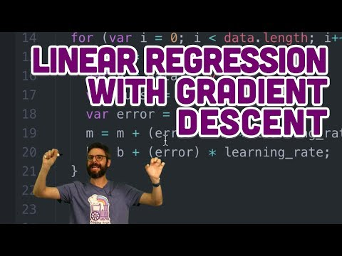 3.4: Linear Regression with Gradient Descent - Intelligence and Learning