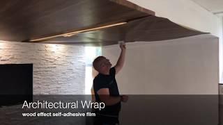 Vinyl Wrap Office Reception Refurbishment, Architectural Films - WRAPT