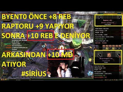 BYENT0  BU GECE ÇILDIRMIŞ OLMALI +10 MD +10 REB RAPTOR UPGRADE ( KASA 8 9 BİN TL) - KNİGHT ONLİNE