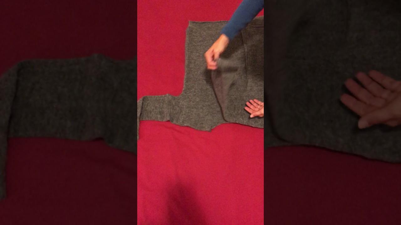 Come Piegare Un Maglione.Come Piegare Una Maglia Youtube
