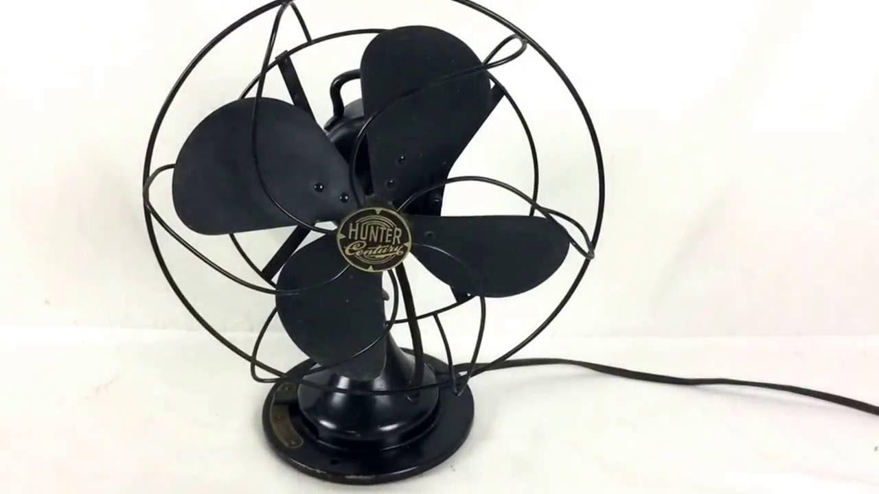 Hunter Century Table Top Fans : Hunter century metal blade oscillator vintage fan