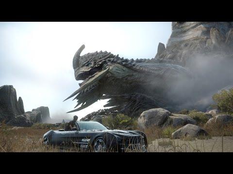 Final Fantasy 15: Adamantoise Boss Fight (1080p 60fps)