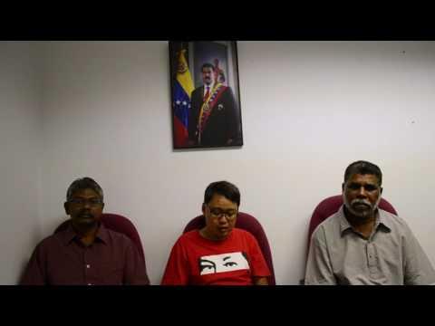 Declaración conjunta en solidaridad con Venezuela