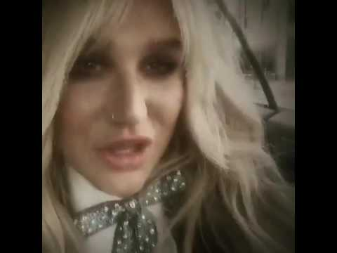 Kesha hears Praying for the first time on the radio on release day!