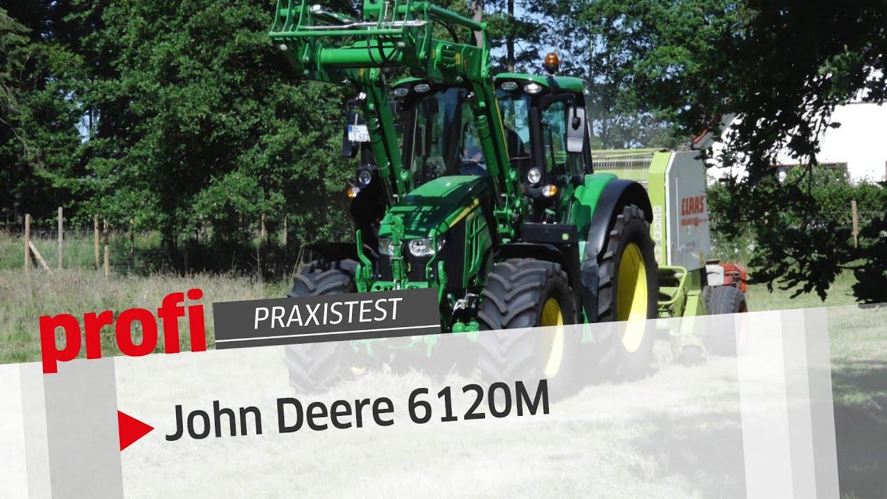 Freie Sicht auf ein breites Einsatzfeld: John Deere 6120M | profi #Praxistest