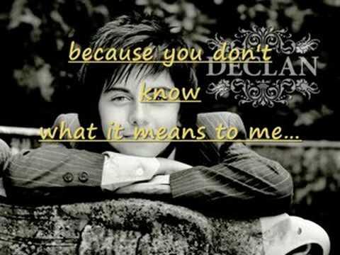 Declan Galbraith   Love of my life lyrics