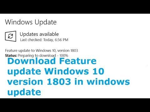 feature update windows 10 version 1803 error