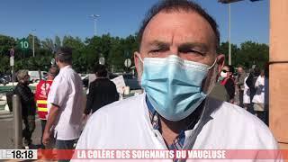 La colère des soignants du Vaucluse