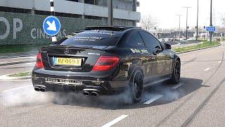 Mercedes-Benz C63 AMG Coupe - BURNOUTS & EXHAUST SOUNDS!