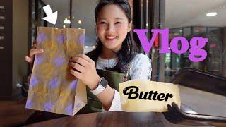 난 미국에서 Butter 해 🧈 ( feat. BTS 세트) | 미국카페 브이로그