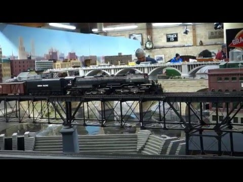 Union Pacific O-Scale Big Boy 4-8-8-4 Steam Locomotive at The TCMRM.