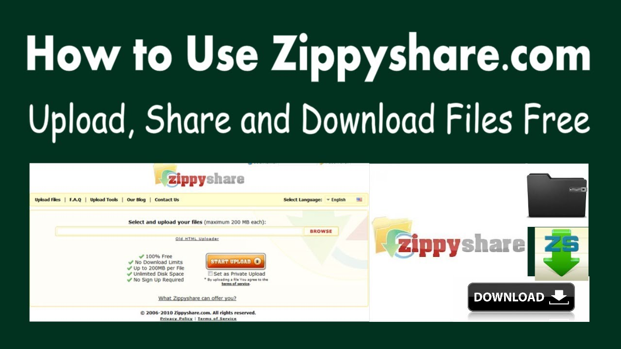 How To Use Zippyshare Easy Upload Share And Download Files Free Youtube