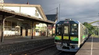 函館本線(普通列車)ニセコ駅に入線/ H100形(DECMO)ニセコ1756発(小樽行)