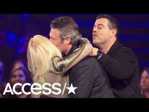Gwen Stefani Smooches Her Man Blake Shelton After He Wins People's Choice Award