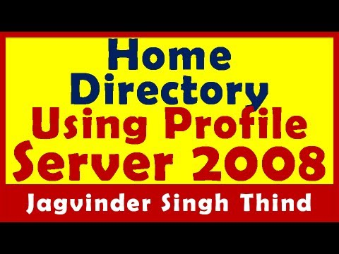 Home Directory for Domain Users using Profile - Active Directory Server 2008