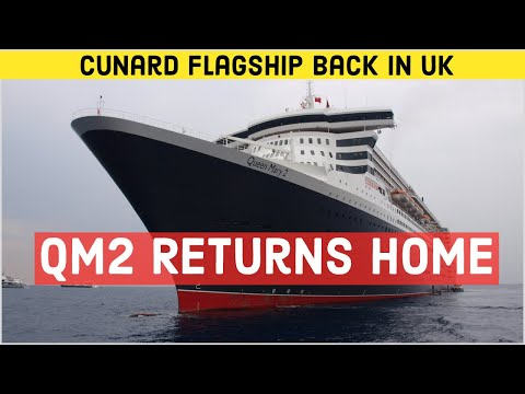 QM2 Returns To Southampton | Queen Mary 2 Back In The UK After Cancelled 2020 World Cruise