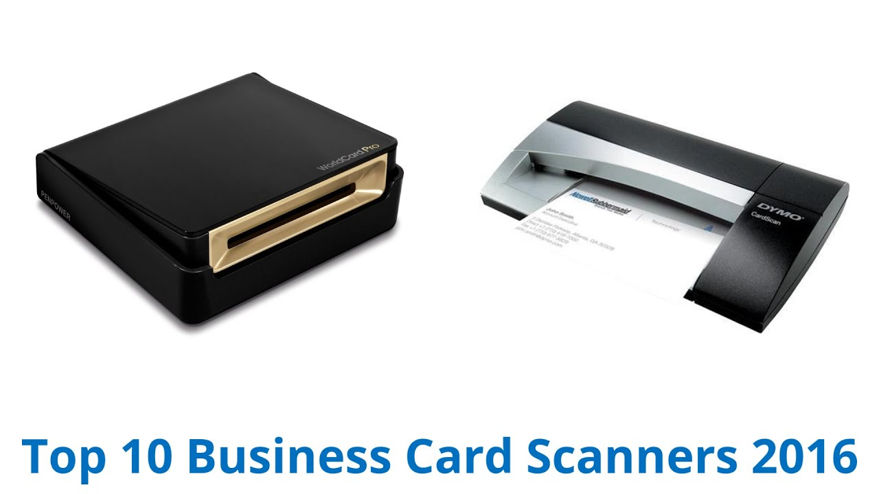 10 Best Business Card Scanners 2016 - YouTube