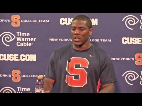 Syracuse football player post-game interviews, LSU 9/26/15: Zaire Franklin