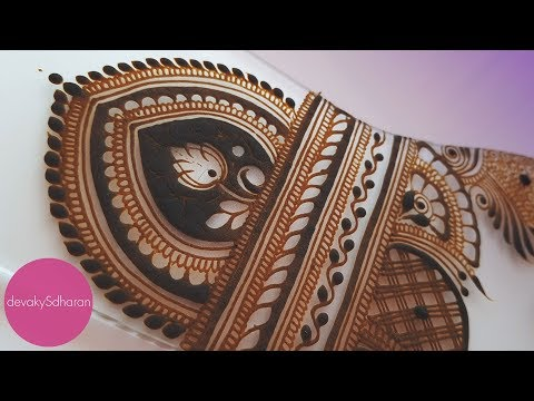 Contemporary Indian bridal mehendi design | Henna tutorials by Devaky S Dharan