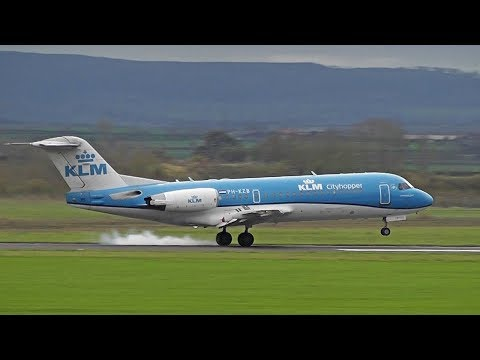 Very last 2 KLM Fokker70 flights to Durham Tees Valley (28th Oct 2017)