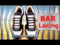 ✔ How to Cool Lace Shoes - Bar Lacing (Hidden Knot) ✔ - by Shoelace Styles
