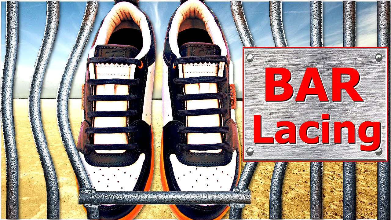 How to Cool Lace Shoes - Bar Lacing (Hidden Knot)  - by Shoelace Styles  - YouTube
