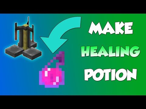 How To Make Healing Potion - Minecraft