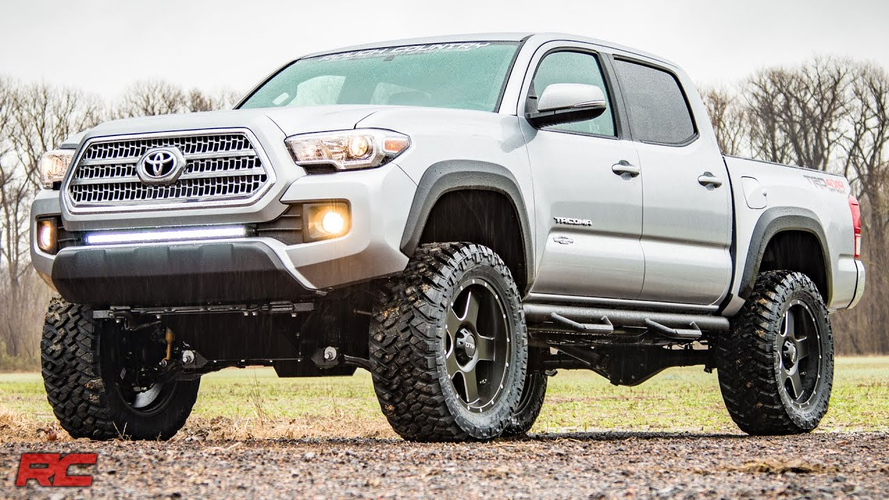 Toyota Tacoma Off Road >> 2016-2017 Toyota Tacoma 4-inch Suspension Lift Kit by Rough Country - YouTube