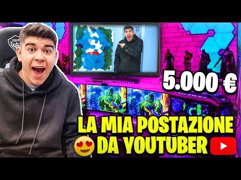 😱 ECCO la MIA POSTAZIONE GAMING DA 5.000€!! Il nuovo studio per YouTube - ShaleBoom
