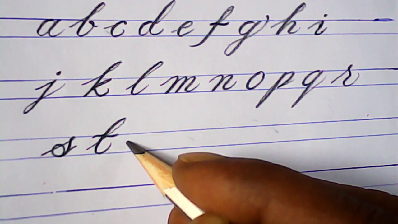 How To Write English Small Letters
