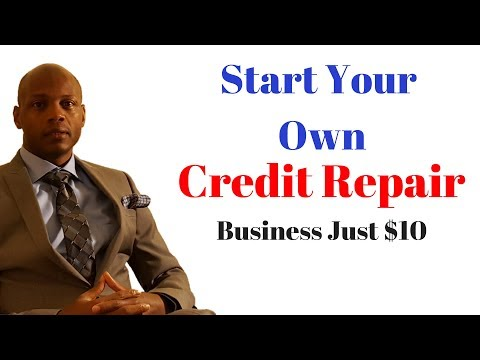 How to Start Your Own Credit Repair Business for $10
