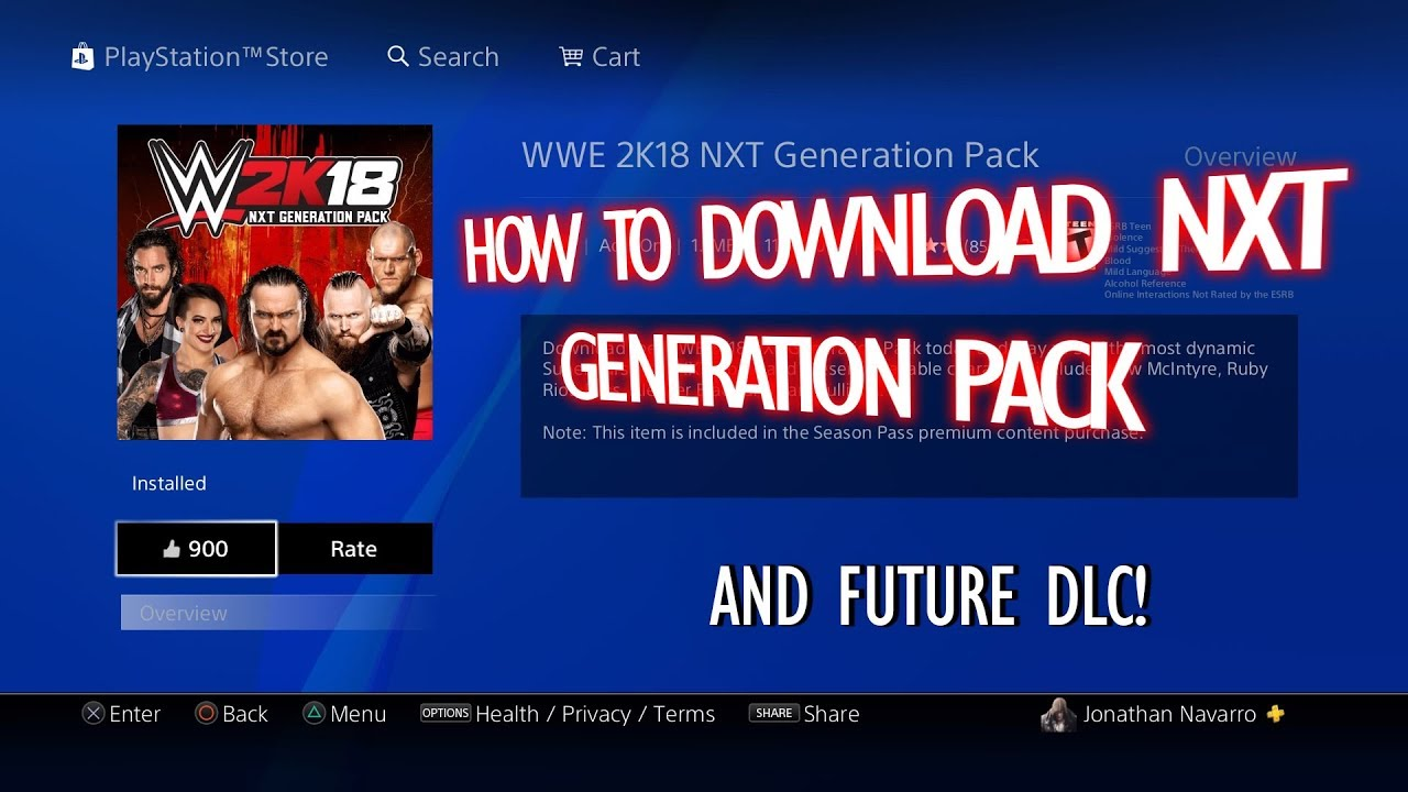 WWE 2K18 - How to Download DLC (PS4)