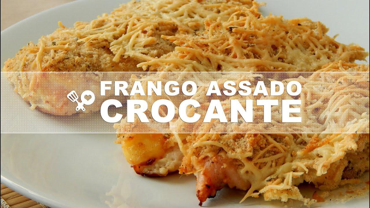 Extremamente Frango assado crocante - YouTube SA53