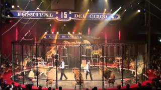Redy & Denny Montico (Italy) Big Cats - 15th International Circus Festival - City of Latina (2013)