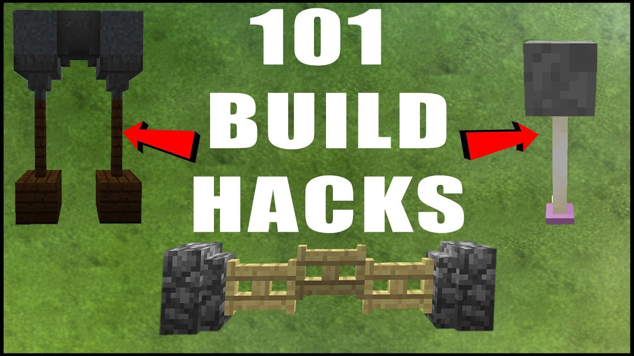 101 minecraft build hacks youtube