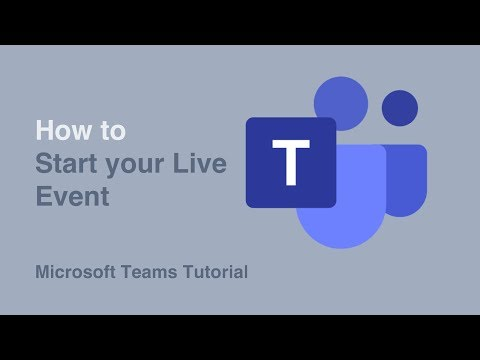How To Start Your Event | Live Events | Microsoft Teams | Tutorial