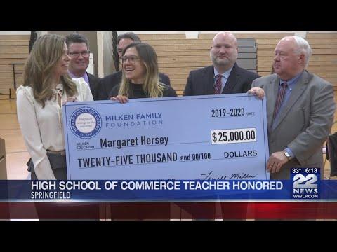 High School of Commerce teacher honored with prestigious award