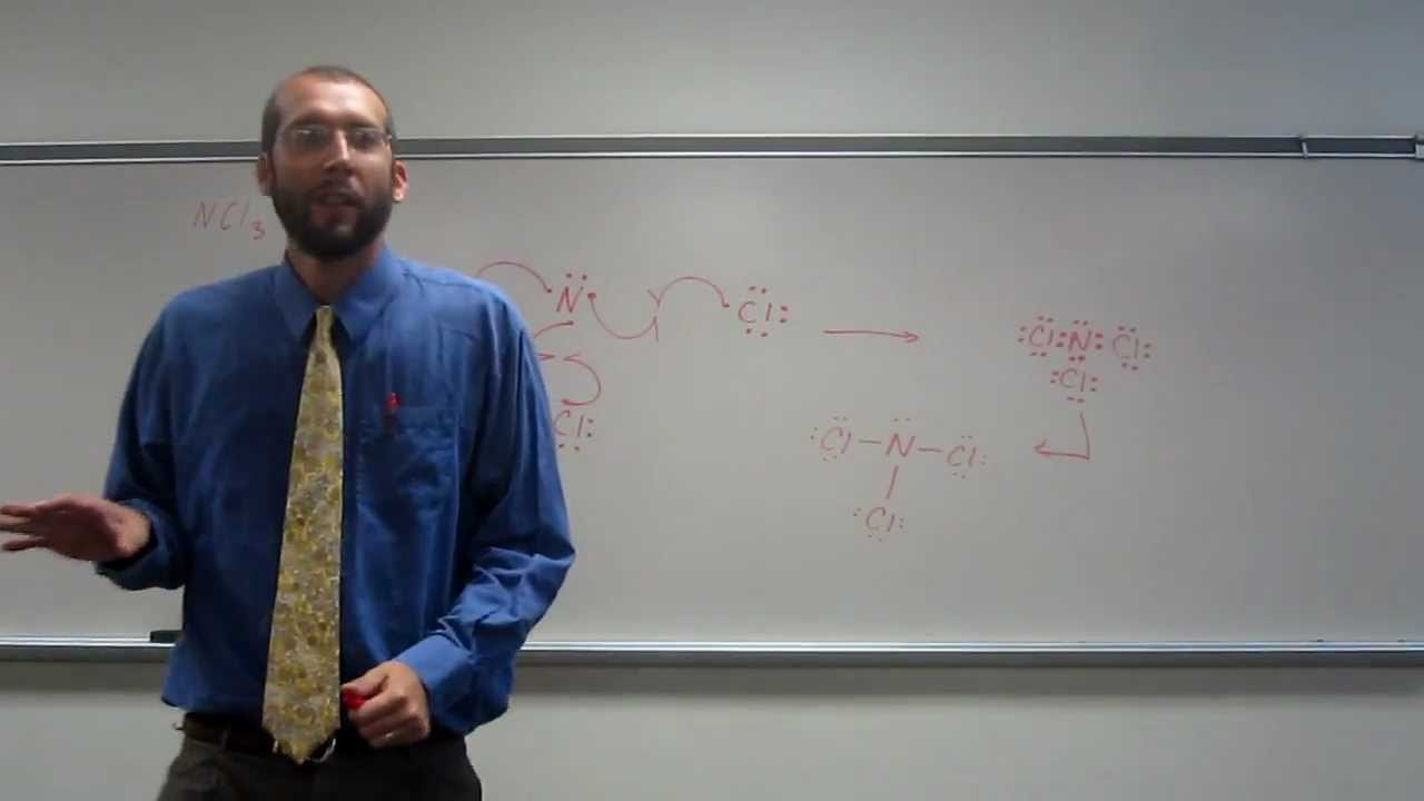 hight resolution of lewis dot structures molecules nitrogen trichloride ncl3 010 youtube