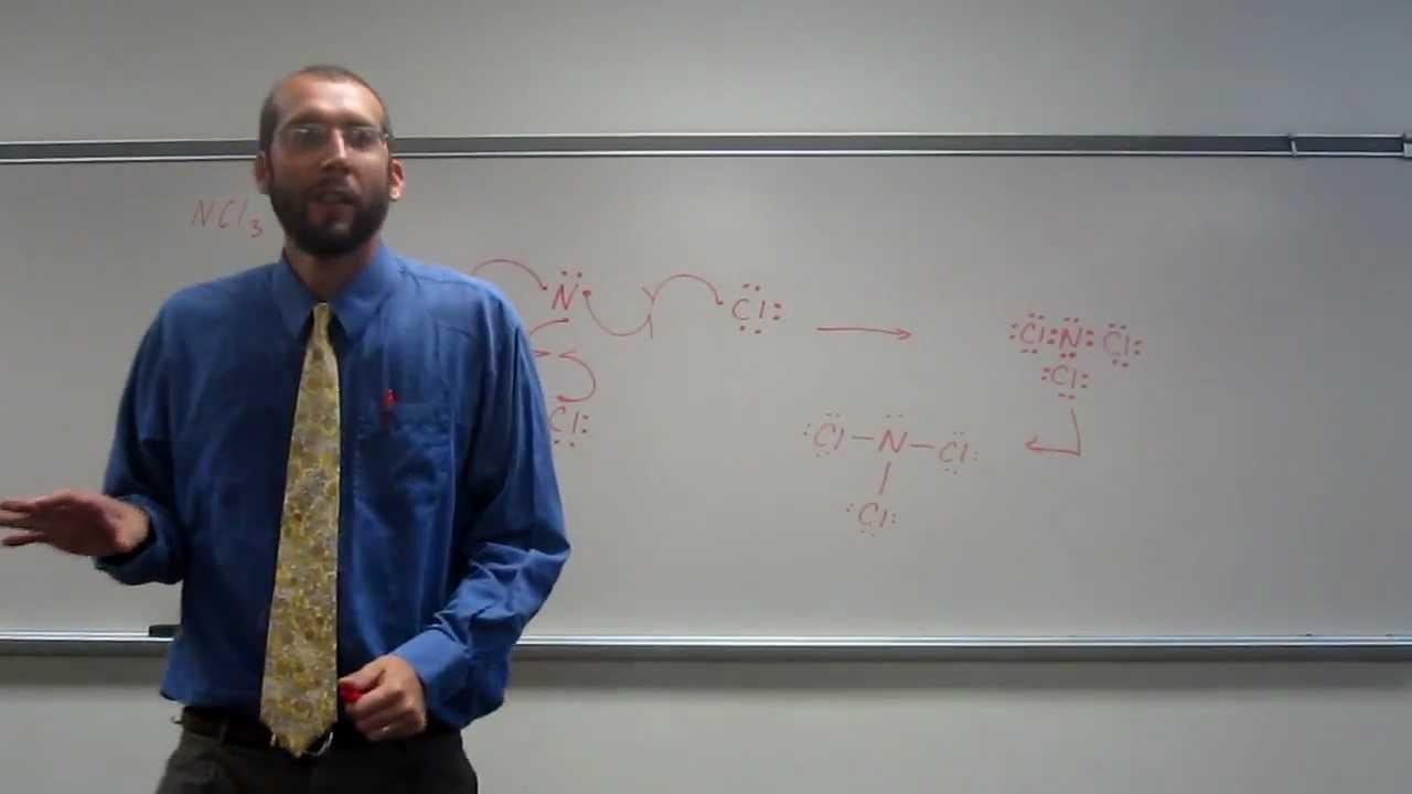 medium resolution of lewis dot structures molecules nitrogen trichloride ncl3 010 youtube