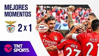¡JUEGAZO EN EL ESTADIO DA LUZ! I BENFICA 2 x 1 PSV I RESUMEN Y GOLES I UEFA CHAMPIONS LEAGUE