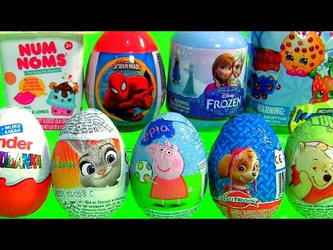 Ovos de Páscoa Kinder Zootopia NUM NOMS Peppa Pig Patrulha Canina Zootrópolis Disney FROZEN Shopkins