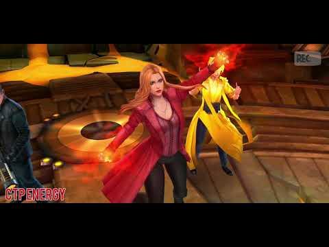 Scarlet Witch CTP Energy Vs CTP Rage Stage 50 Ebony Maw | WBU | Marvel Future Fight