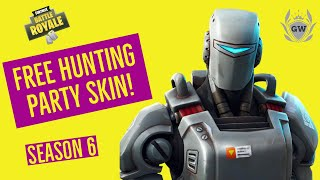 HOW TO GET NEW FORTNITE HUNTING PARTY SKIN! WEEK 7 CHALLENGES FREE A I M SKIN Fortnite Battle Royale